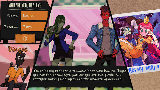 Monster Prom. Composite image shows cartoon monsters in high school.