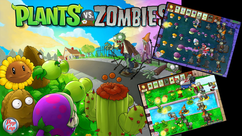 Plants vs Zombies video game promotional image.